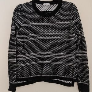 Madewell Black & White Knit Sweater